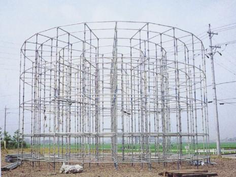 円形軽支保工システム(試験組)